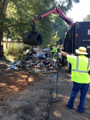 Debris removal in Wilkinson County