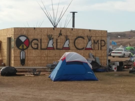 Protesters filled acres of tents, teepees and other