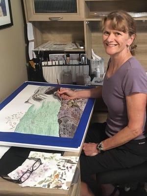 Michele Jackson in her home studio.