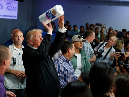 Image result for trump scores disaster relief a 10