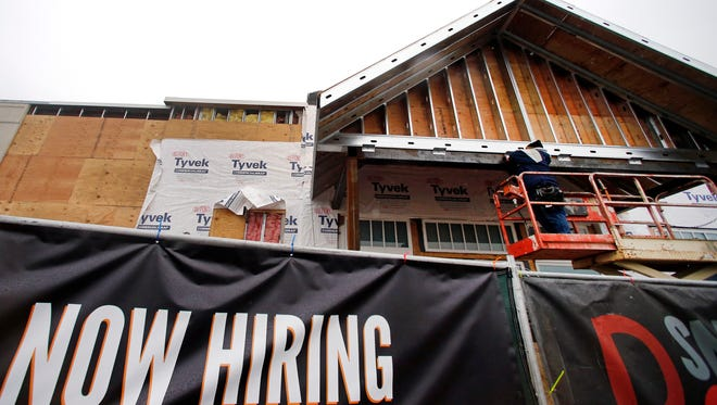 The construction sector is among those that have picked up hiring recently.