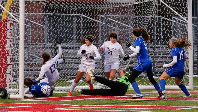 Bronxville defeated Port Jefferson 3 to 0 to win the Class B Girls Soccer Championship at SUNY Cortland November 16, 2014