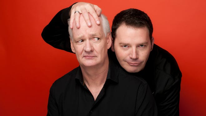 "Colin Mochrie, left, and Brad Sherwood of ""Whose Line is it Anyway?"" are bringing their energetic improv comedy show to Lakeside."