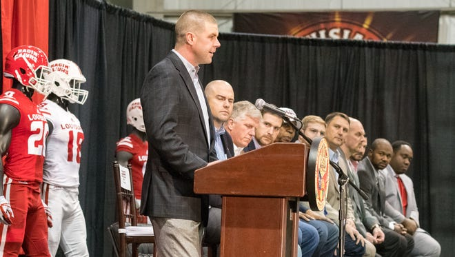 UL coach Billy Napier talks on National Signing Day.