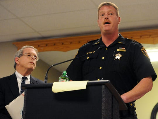 Pike County Sheriff Charles Reader speaks during a