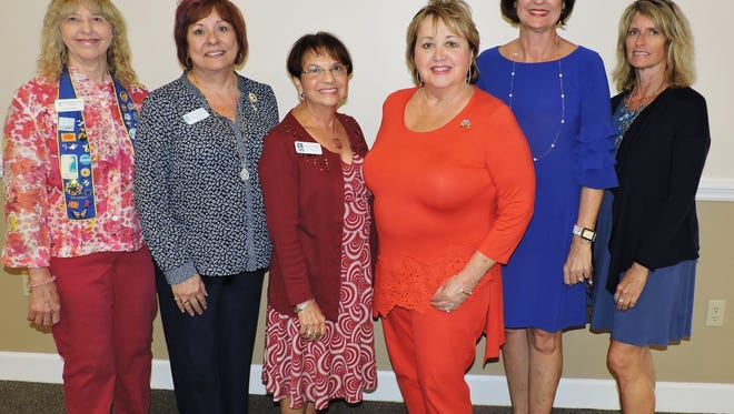 From left are Lucy Lueg, Terri Pettingill, Nidia Bernsteil, Sherry Douds, Janice Norman and Gigi Suntum, Soroptimist International Dinner with Your Daughter committee members.