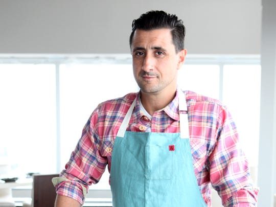 Chef Anthony Goncalves in the renovated space at 42 The Restaurant, at the top of the Ritz-Carlton.