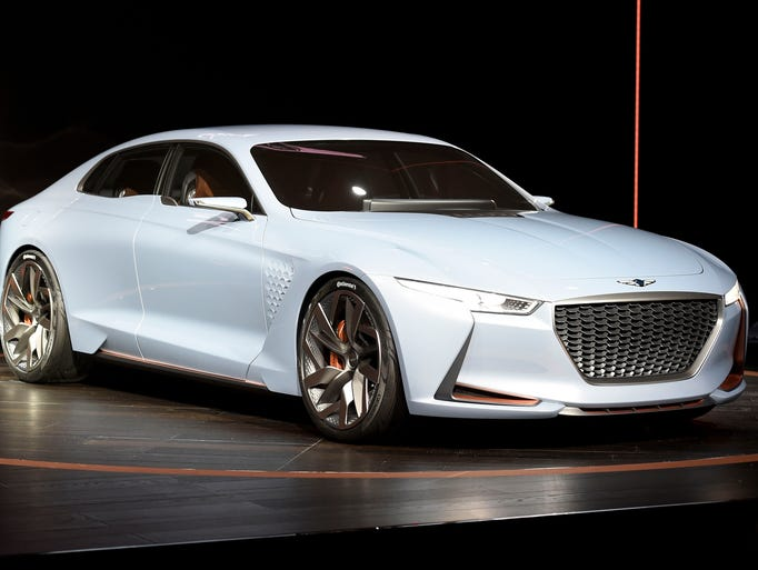Genesis New York Concept car is seen during the New