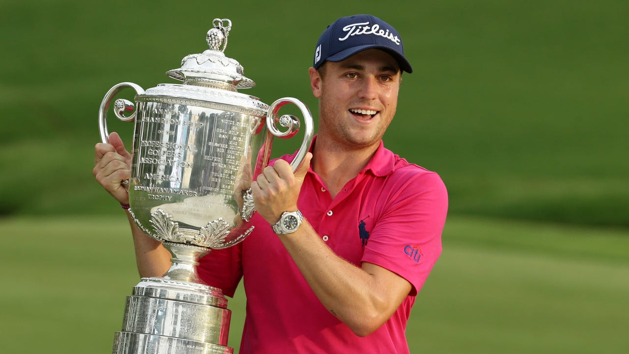 Justin Thomas won the 99th PGA Championship for his first career major title, and the congratulations came pouring in from around the sports world.