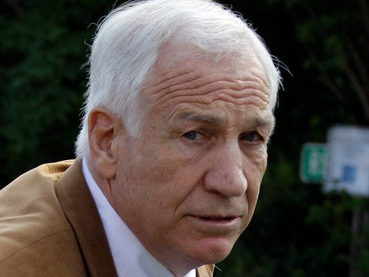 Former Penn State University assistant football coach Jerry Sandusky arrives at the Centre County Courthouse in Bellefonte, Pa., Friday, June 22, 2012. Sandusky was convicted of sexually abusing 10 boys over a 15-year period.