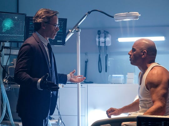 """Guy Pearce, left, and Vin Diesel in a scene from """"Bloodshot."""""""
