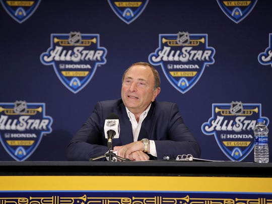 NHL Commissioner Gary Bettman said the league is considering several places as sites to finish the season.