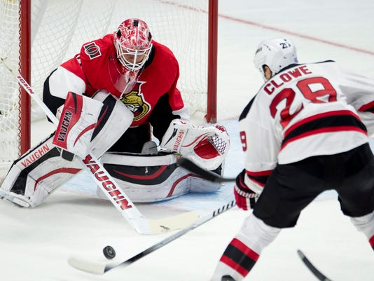 Devils Senators Hockey