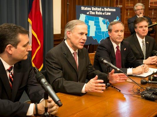 Ted Cruz, Greg Abbott, Ken Paxton, Dan Patrick