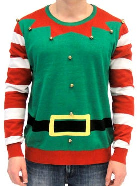 This holiday sweater can be found on the site UglyChristmasSweater.com.