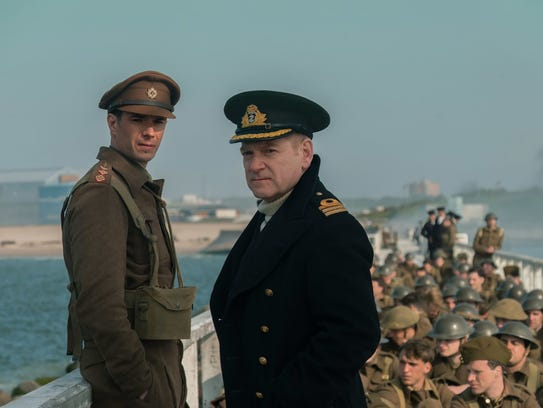 """Kenneth Branagh and James D'Arcy star in """"Dunkirk."""""""