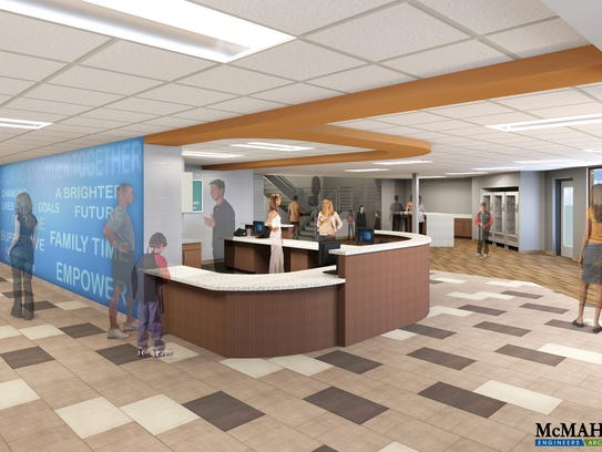 Design for the new Manitowoc-Two Rivers YMCA welcome