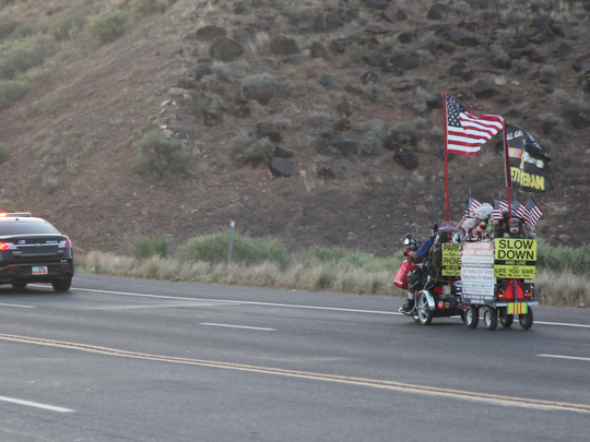 Vietnam veteran Raymond Black hits the road May 14 with a police escort to begin a fundraising journey across the Southwest.