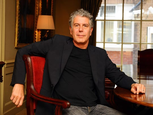 "Anthony Bourdain was photographed on Sept. 2, 2010, as he promoted his new book ""Medium Raw"" at the Hazlitts club in London. Bourdain was found dead in his hotel room of an apparent suicide at age 61."