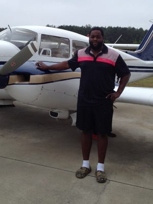 Ellis Johnson and his plane