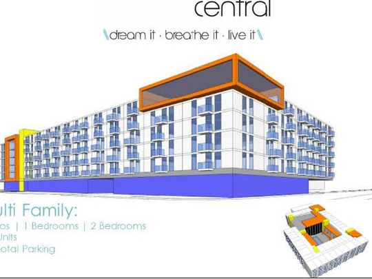 This idea has 12,550 feet of retail space, plus 244