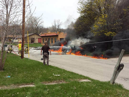 An Allouez man died early Friday afternoon in a fiery