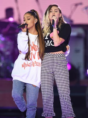 Ariana Grande and Miley Cyrus