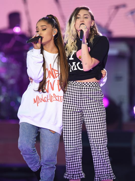 Ariana grande leads emotional concert for manchester attack victims 692305822 e ace ent cel mus gbr en ariana grande m4hsunfo
