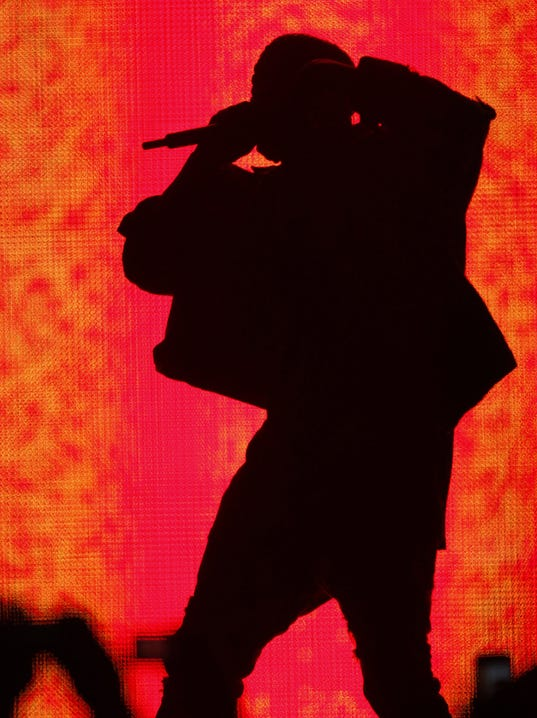 Kanye in silhouette