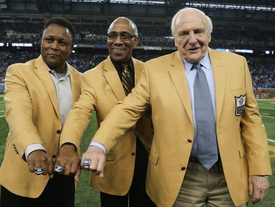 Detroit Lions Hall of Famer's Barry Sanders, Lem Barney