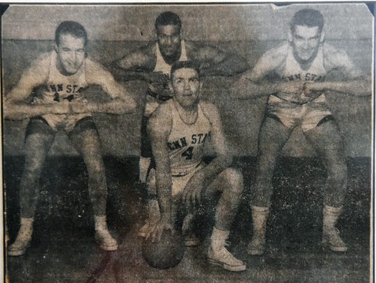 This undated newspaper clipping shows the four Penn