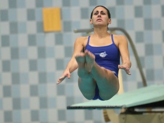 Brookfield Central's Caitlin Locante competes in the