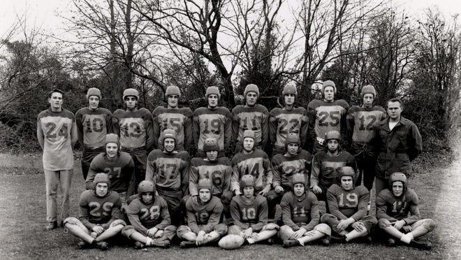 The 1950 Rehoboth High School football team.