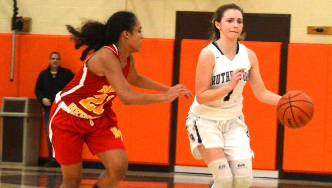Rutherford sophomore guard Emilia McCarthy (1) is one of the returning players for the Lady Bulldogs.