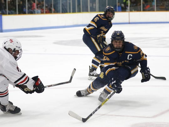 Sam Sippel is a veteran defenseman and a co-captain for the Wausau West boys hockey team this winter.