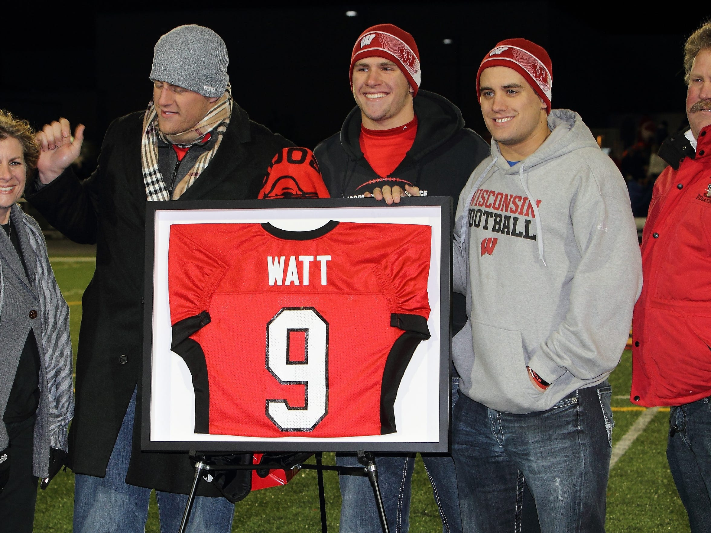 Pewaukee High School honored J.J. Watt by retiring
