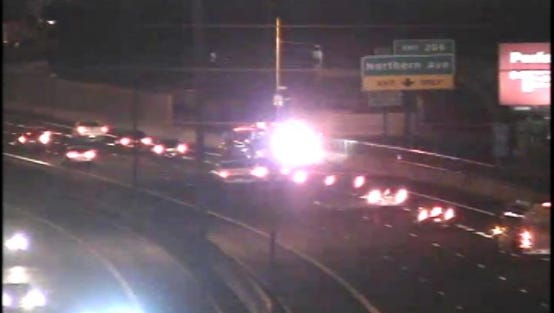 A man suspected of being impaired attempted to enter southboundInterstate 17 fromthe off-ramp at Dunlap Avenue after hitting a concrete barrier around 1 a.m., according to Sgt. Vince Lewis, a Phoenix police spokesman.