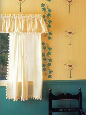 Put unwanted seams or panel indentations to use when decorating your walls with paint.