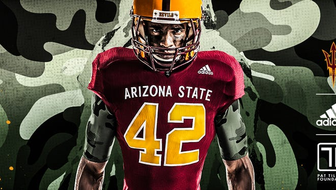 "Arizona State unveiled ""PT-42"" alternate uniforms."