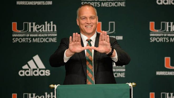 Mark Richt took the Miami football job on Dec. 4.
