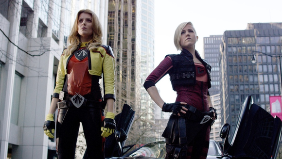 Grace Helbig, left, and Hannah Hart, right, wear updated