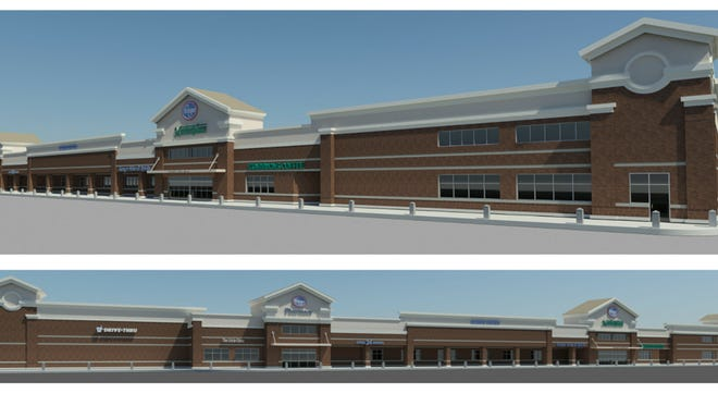 A rendering of the renovated Kroger that is coming to New Albany.