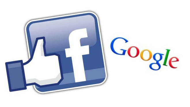 Facebook and Google logos