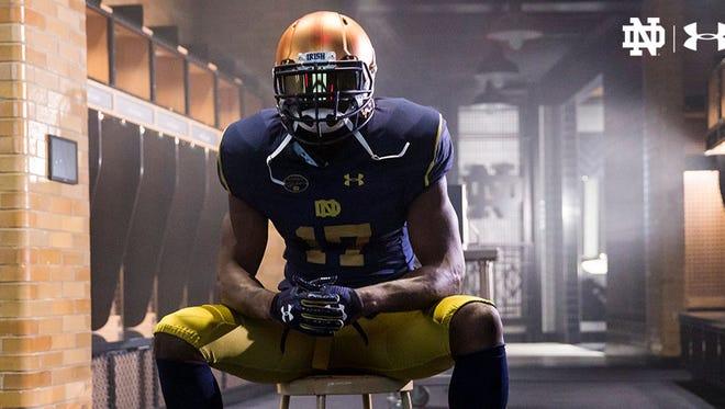 Notre Dame's full uniform