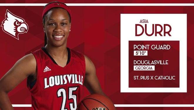 UofL announced the signing of top-ranked Atlanta guard Asia Durr
