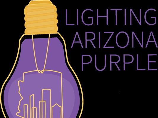 Lighting Arizona Purple