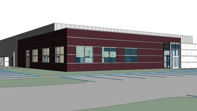 This artist rendering depicts what a planned archive storage facility in northwest Sioux Falls will look like once complete.