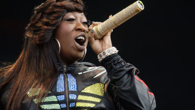 """Missy Elliot performs onstage at the Wireless Festival in Hyde Park, London. Missy Elliott is going to """"Work It"""" at the Super Bowl with Katy Perry."""