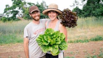 Kyle and Lauren Rudersdorf run a vegetable CSA farm in Brodhead.