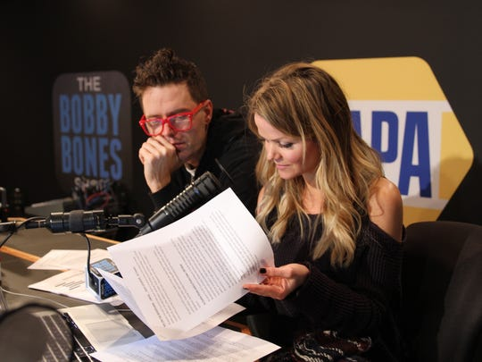 "Bobby Bones and Amy Brown work at ""The Bobby Bones"